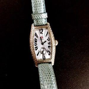 Authentic MICHELE diamond watch
